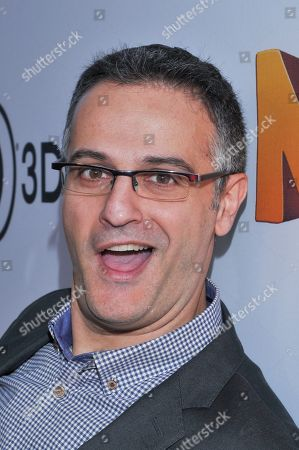 """Director Peter Lepeniotis is seen at the premiere of the animated film """"The Nut Job"""" on in Los Angeles, California"""