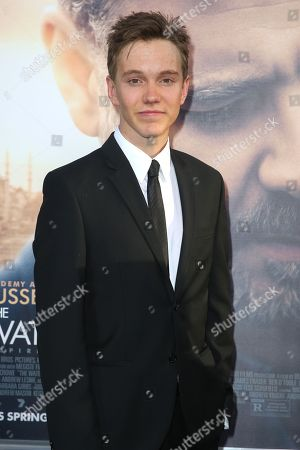 """James Fraser arrives at the LA Premiere of """"The Water Diviner"""" at TCL Chinese Theatre, in Los Angeles"""