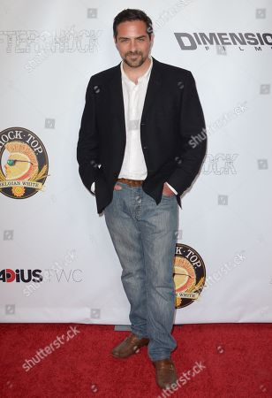 """Brandon Pizzola arrives at the LA Premiere of """"Aftershock"""" at the Chinese 6 Theatres on in Los Angeles"""