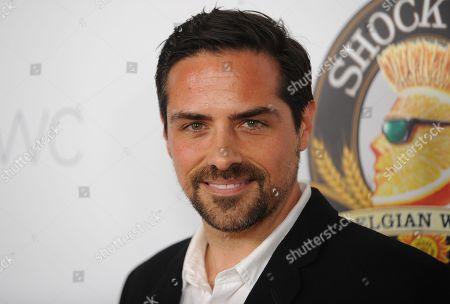 """Stock Image of Brandon Pizzola arrives at the LA Premiere of """"Aftershock"""" at the Chinese 6 Theatres on in Los Angeles"""