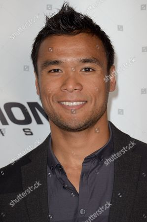 """Stock Image of Marvin Estrellado arrives at the LA Premiere of """"Aftershock"""" at the Chinese 6 Theatres on in Los Angeles"""