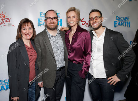 """Producer Catherine Winder, Director Cal Brunker, Jane Lynch and Co-Writer Bob Barlen attend the LA premiere of """"Escape from Planet Earth"""" at the Chinese Theater on Saturday, Feb. 2,2013 in Hollywood"""