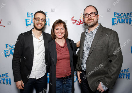 """Co-Writer Bob Barlen, Producer Catherine Winder and director Cal Brunker attend the LA premiere of """"Escape from Planet Earth"""" at the Chinese Theater on Saturday, Feb. 2,2013 in Hollywood"""