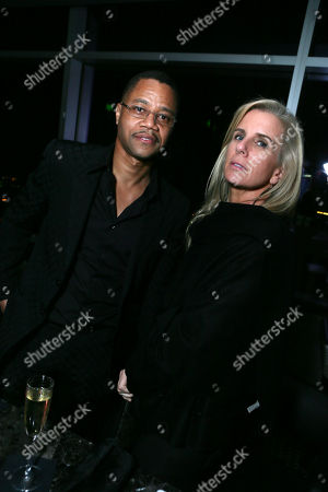 Cuba Gooding Jr and Sara Kapfer at The Los Angeles Premiere of 'The Butler' after party, on in Los Angeles