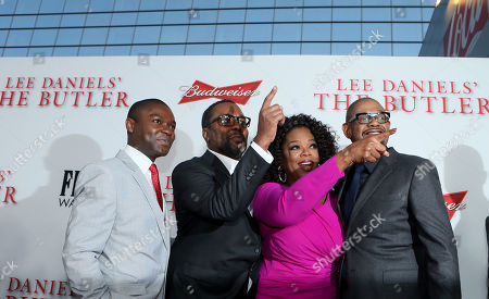 Stephen Rider, director Lee Daniels, actors Oprah Winfrey, and Forest Whitaker at The Los Angeles Premiere of 'The Butler', on in Los Angeles
