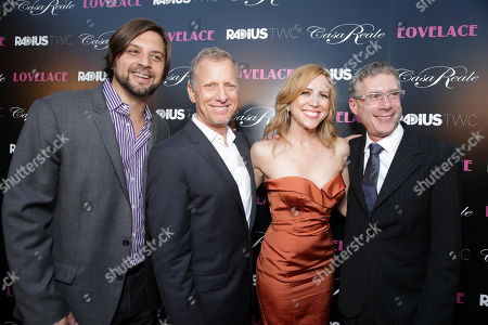 "Producer Jim Young, director Rob Epstein, producer Laura Rister and director Jeffrey Friedman seen at the premiere of ""Lovelace"" held at the Egyptian Theatre on in Los Angeles"