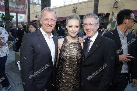 "Director Rob Epstein, Amanda Seyfried and director Jeffrey Friedman seen at the premiere of ""Lovelace"" held at the Egyptian Theatre on in Los Angeles"
