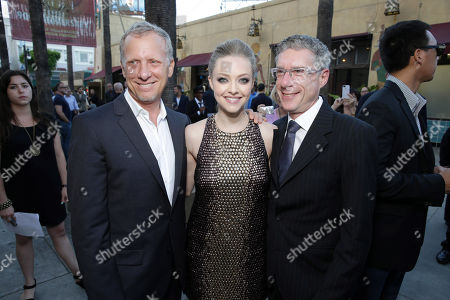 """Director Rob Epstein, Amanda Seyfried and director Jeffrey Friedman seen at the premiere of """"Lovelace"""" held at the Egyptian Theatre on in Los Angeles"""