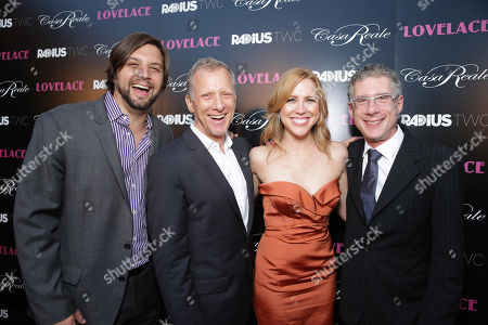 """Producer Jim Young, director Rob Epstein, producer Laura Rister and director Jeffrey Friedman seen at the premiere of """"Lovelace"""" held at the Egyptian Theatre on in Los Angeles"""