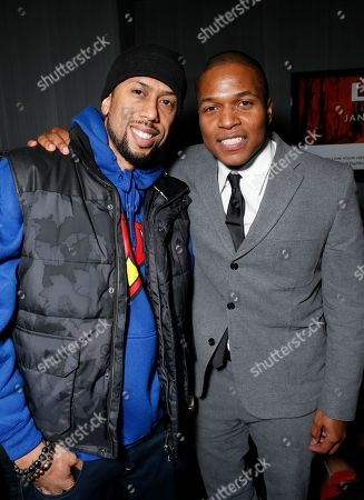 """Affion Crockett and Director Sheldon Candis attend the LA premiere of """"Luv"""" at the Pacific Design Center, in West Hollywood, California"""