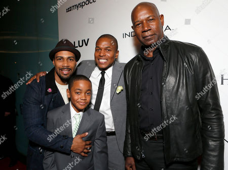 """Omari Hardwick, Michael Rainey Jr., Director Sheldon Candis and Dennis Haysbert attend the LA premiere of """"Luv"""" at the Pacific Design Center, in West Hollywood, California"""