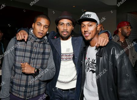 """Cory Hardrict, Omari Hardwick and Wesley Jonathan attend the LA premiere of """"Luv"""" at the Pacific Design Center, in West Hollywood, California"""