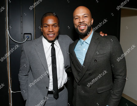 """Director Sheldon Candis and Common attend the LA premiere of """"Luv"""" at the Pacific Design Center, in West Hollywood, California"""