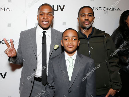 """Director Sheldon Candis, Michael Rainey Jr. and Big Sean attend the LA premiere of """"Luv"""" at the Pacific Design Center, in West Hollywood, California"""