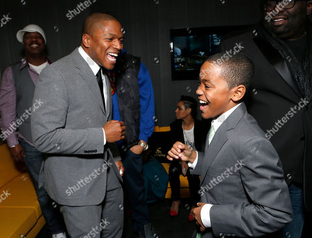 """Director Sheldon Candis and Michael Rainey Jr. attend the LA premiere of """"Luv"""" at the Pacific Design Center, in West Hollywood, California"""
