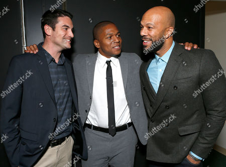 """Stock Photo of Producer Jason Michael Berman, Director Sheldon Candis and Common attend the LA premiere of """"Luv"""" at the Pacific Design Center, in West Hollywood, California"""