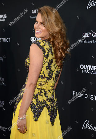 """Michelle Celeste arrives at the LA premiere of """"Olympus Has Fallen"""" at the ArcLight Theatre on in Los Angeles"""