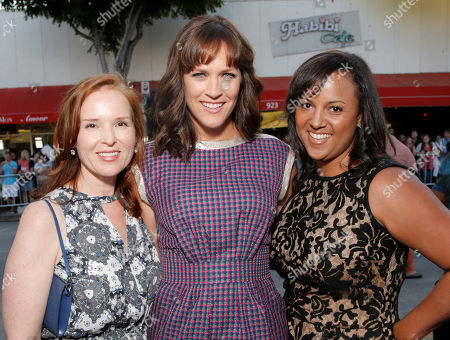 """Producers Jennifer Todd, Director Maggie Carey and Sharla Sumpter arrive on the red carpet at the LA Premiere of """"The To Do List"""" at the Regency Bruin Theatre on in Los Angeles"""