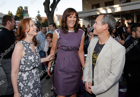 """Producer Jennifer Todd, Director Maggie Carey and Producer Brian Robbins arrive on the red carpet at the LA Premiere of """"The To Do List"""" at the Regency Bruin Theatre on in Los Angeles"""