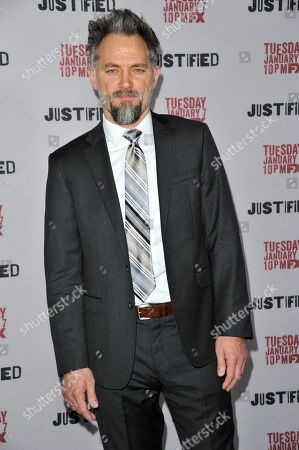 "Editorial image of LA Premiere Screening of ""Justified"" - Arrivals, Los Angeles, USA - 6 Jan 2014"