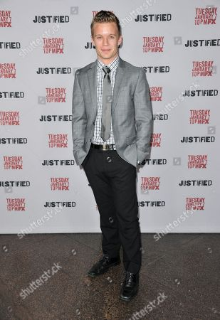 """Stock Picture of Jesse Luken arrives at the LA Premiere Screening of """"Justified"""" at the Directors Guild of America on in Los Angeles"""