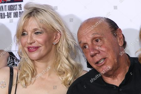 "Courtney Love, left, and Dayton Callie attend the LA Premiere Screening of ""Sons Of Anarchy"" at at TCL Chinese Theatre, in Los Angeles"