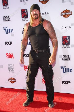 """Rusty Coones attends the LA Premiere Screening of """"Sons Of Anarchy"""" at at TCL Chinese Theatre, in Los Angeles"""