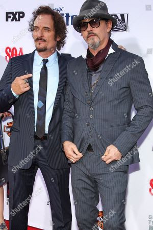 """Kim Coates, left, and Tommy Flanagan attendthe LA Premiere Screening of """"Sons Of Anarchy"""" at at TCL Chinese Theatre, in Los Angeles"""