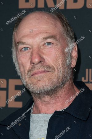 "Ted Levine arrives at the LA Premiere Screening of ""The Bridge"", in West Hollywood, Calif"