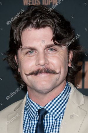 """Johnny Dowers arrives at the LA Premiere Screening of """"The Bridge"""", in West Hollywood, Calif"""