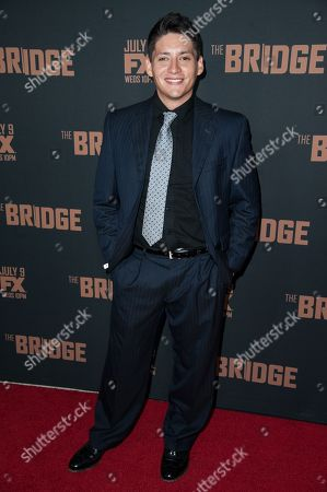 "Carlos Pratts arrives at the LA Premiere Screening of ""The Bridge"", in West Hollywood, Calif"