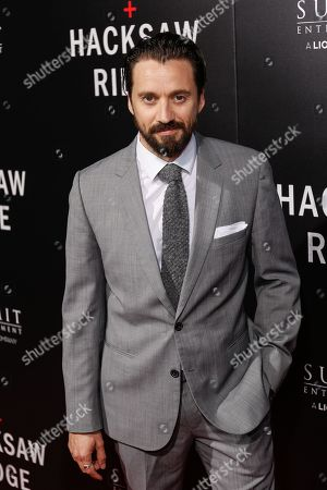 """Richard Pyros arrives at the LA Special Screening of """"Hacksaw Ridge"""" at the Samuel Goldwyn Theater, in Beverly Hills, Calif"""