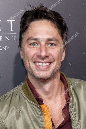"""Stock Photo of Zack Braff arrives at the LA Special Screening of """"Hacksaw Ridge"""" at the Samuel Goldwyn Theater, in Beverly Hills, Calif"""