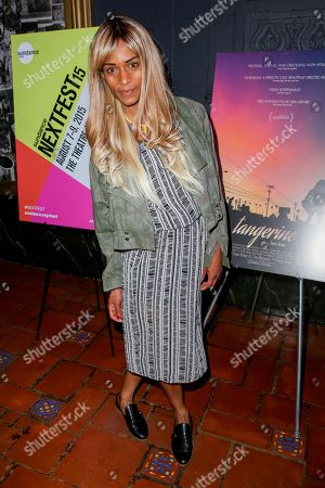 """Kitana Kiki Rodriguez arrives at the LA Special Screening of """"Tangerine"""" at The Theater at Ace Hotel, in Los Angeles"""