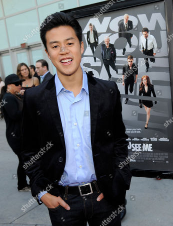 """Actor Tobit Raphael poses at the Los Angeles special screening of the film """"Now You See Me"""" at the ArcLight Hollywood on in Los Angeles"""