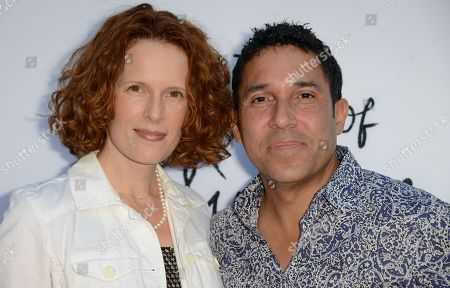"""Ursula Whittaker, left, and Oscar Nunez arrive at the LA special screening of """"The Kings of Summer"""" at the ArcLight Hollywood on in Los Angeles"""
