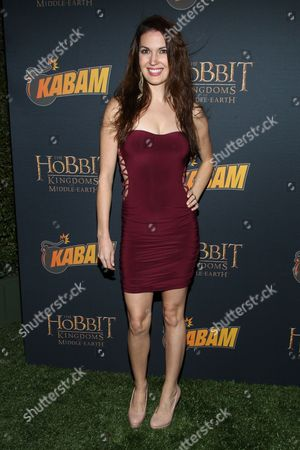 Actress Breann Johnson arrives at 'The Hobbit: The Desolation Of Smaug Expansion Pack' launch party at Eveleigh on in West Hollywood, Calif