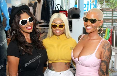 Somaya Reece, Blac Chyna and Amber Rose seen at Launch of the New Amber Rose Eyewear Collection at Kitson-Melrose, in Los Angeles, CA