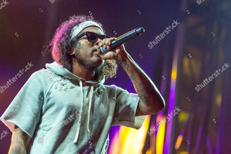 Stock Picture of Ab-Soul performs during the Life is Beautiful festival on in Las Vegas