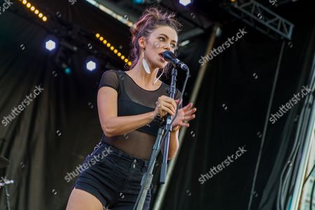 Meg Myers performs during the Life is Beautiful festival on in Las Vegas