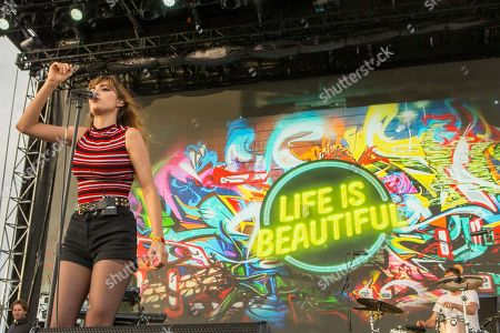 Ryn Weaver performs during the Life is Beautiful festival on in Las Vegas