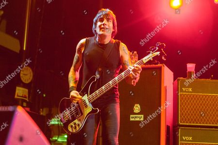 Inge Johansson of Against Me! performs during the Life is Beautiful festival on in Las Vegas