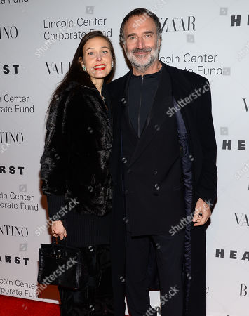 """Stock Image of Fabrizio Ferri and guest attend """"An Evening Honoring Valentino"""" gala, hosted by the Lincoln Center Corporate Fund, at Alice Tully Hall, in New York"""