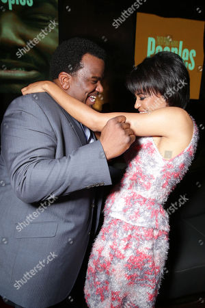 Craig Robinson and Writer/director Tina Gordon Chism at the Lionsgate Los Angeles Premiere of Peeples, on Wednesday, May, 8, 2013 in Los Angeles