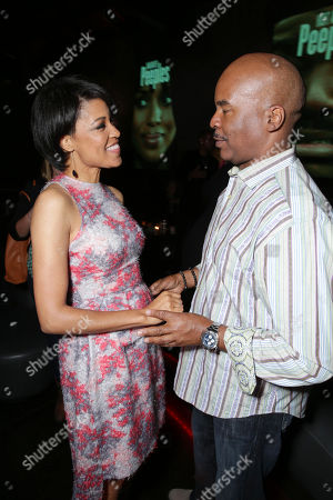 Writer/director Tina Gordon Chism and David Alan Grier at the Lionsgate Los Angeles Premiere of Peeples, on Wednesday, May, 8, 2013 in Los Angeles