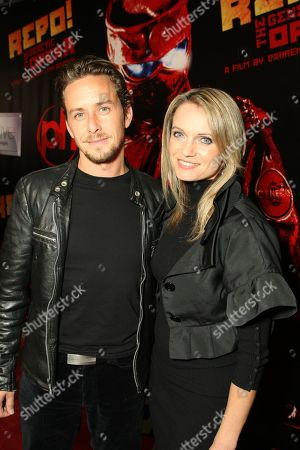 Stock Image of NOVEMBER 06: Dean Armstrong and Berta Bacic at Lionsgate Premiere of 'Repo! The Genetic Opera' on at Planet Hollywood Resort & Casino, NV