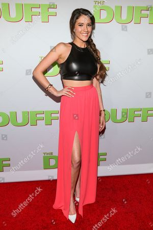"Blair Fowler attends the Los Angeles Fan Screening of ""The Duff"", in Hollywood, Calif"