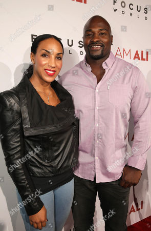 """Stock Photo of Marcellus Wiley and Jazmin Lopez seen at the Los Angeles Premiere of Focus World's """"I Am Ali"""" on Wed, in Hollywood"""