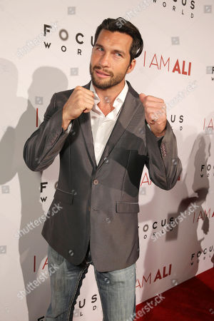 """Stock Image of Marcus Shirock seen at the Los Angeles Premiere of Focus World's """"I Am Ali"""" on Wed, in Hollywood"""