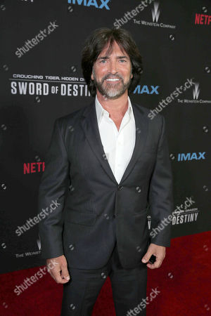 Stock Picture of Screenwriter John Fusco seen at the Los Angeles Premiere of Netflix original film 'Crouching Tiger, Hidden Dragon: Sword of Destiny' at AMC Universal Citywalk Stadium 19, in Universal City, CA